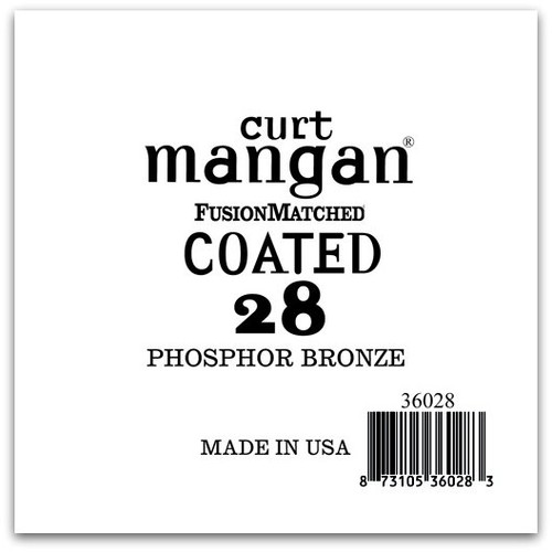 28 PhosPhor Bronze COATED Single String