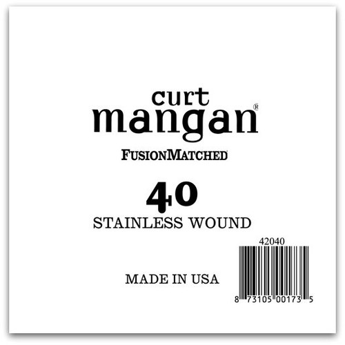 40 Stainless Wound Bass Single String