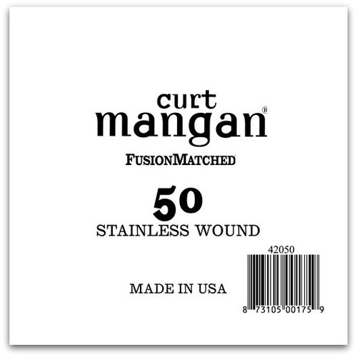 50 Stainless Wound Bass Single String
