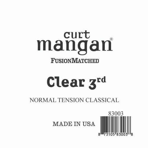 Clear 3rd Normal Tension Single String