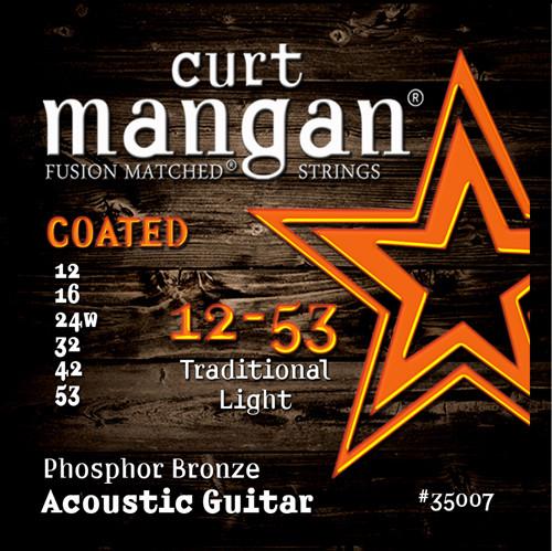 12-53 Traditional Light Phosphor Bronze COATED Acoustic Guitar String Set