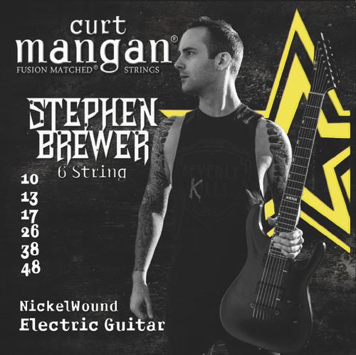 Stephen Brewer's Custom Signature 6 String 10-48 Nickel Wound Set