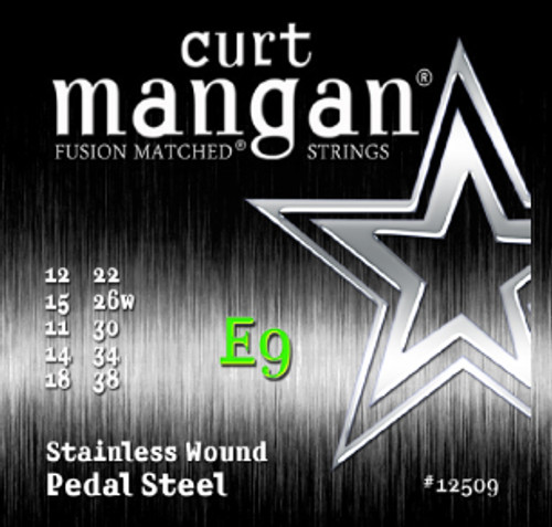 E9 Pedal Steel Stainless Wound