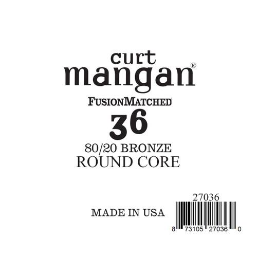 36 80/20 Bronze ROUND CORE Single String
