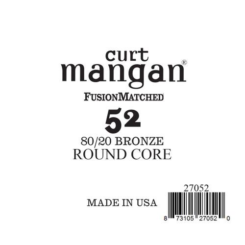52 80/20 Bronze ROUND CORE Single String