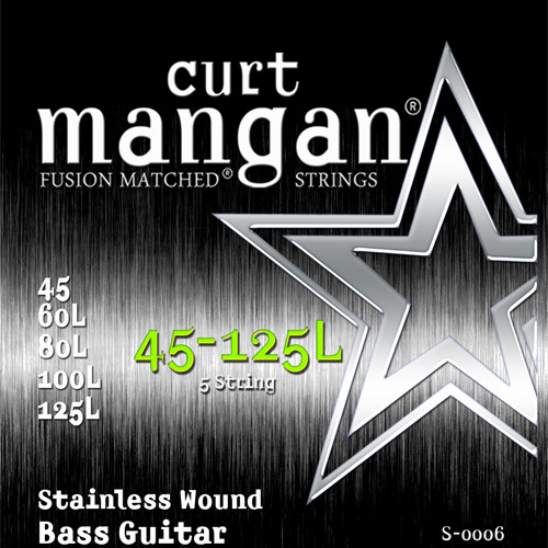45-125 Extra Long Stainless Wound 5-String Bass