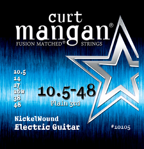 10.5-48 Nickel Wound Guitar String Set