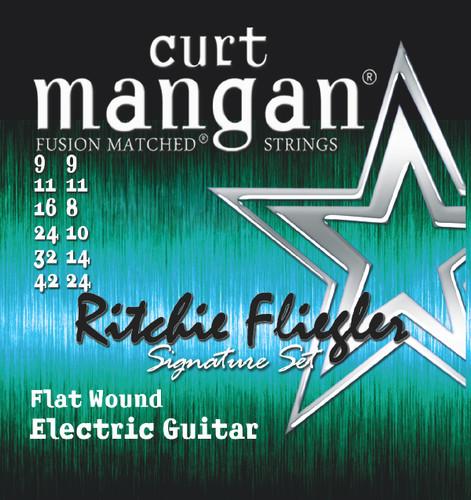 9-42 Flatwound Ritchie Fliegler Custom 12 String Guitar Set