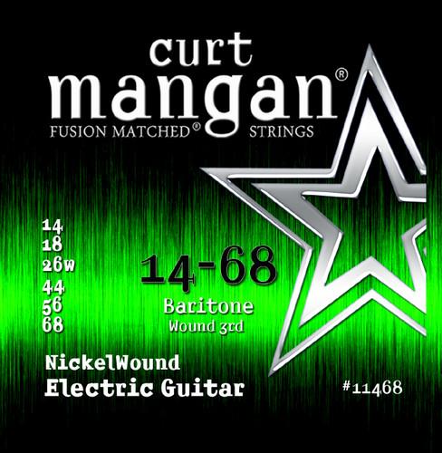 14-68 Baritone Nickel Wound Guitar String Set
