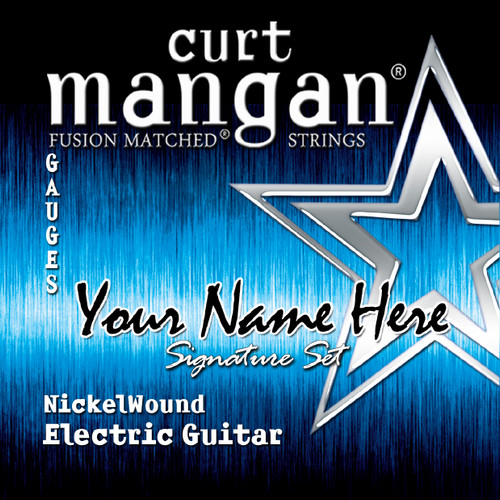 4 x Nickel Wound Custom Gauged String Sets for 6-String, 7-String or 8-String Electric Guitars.