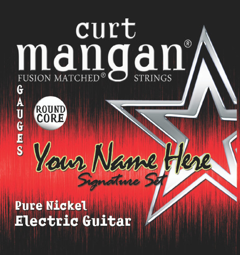 4 X Pure Nickel Custom Gauged ROUND CORE Electric Guitar String Sets