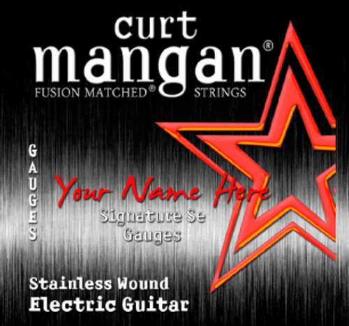4 X Stainless Wound Custom Gauged Electric Guitar String Sets