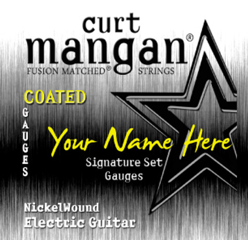 4 X Coated Nickel Wound Custom Gauged Electric String Sets