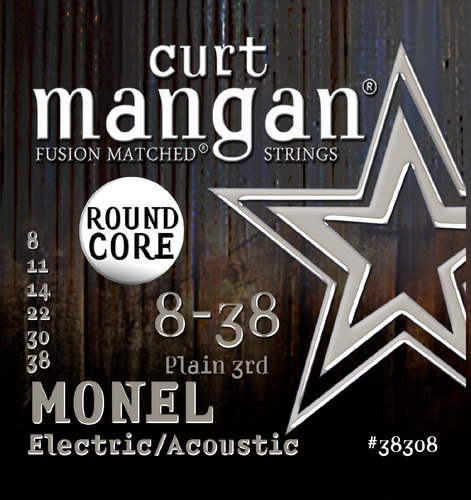 8-38 Monel Round Core Guitar String Set
