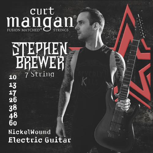 Stephen Brewer's Custom Signature 7 String 10-60 Nickel Wound Set
