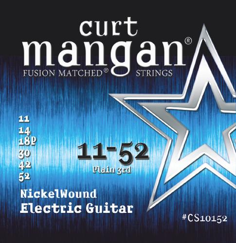 11-52 Plain 3rd Nickel Wound Electric Guitar String Set