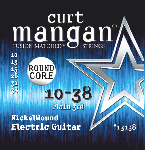 10-38 ROUND CORE Nickel Wound Guitar Strings