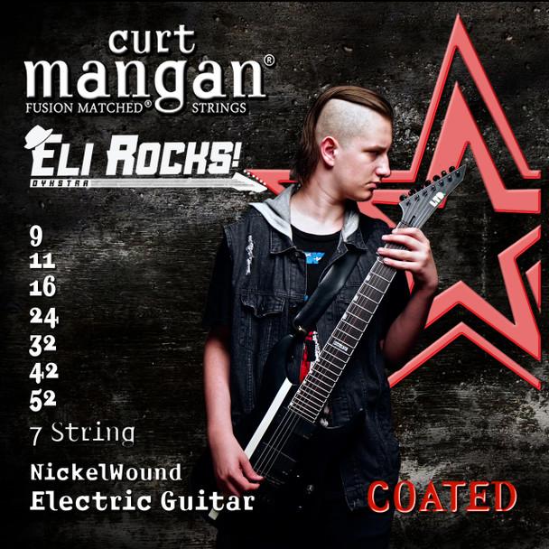 Eli Dykstra 9-52 Custom COATED Signature 7 String Nickel Wound Set