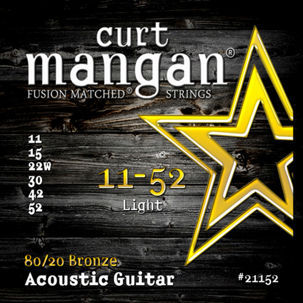 11-52 80/20 Traditional Light Acoustic Guitar Set