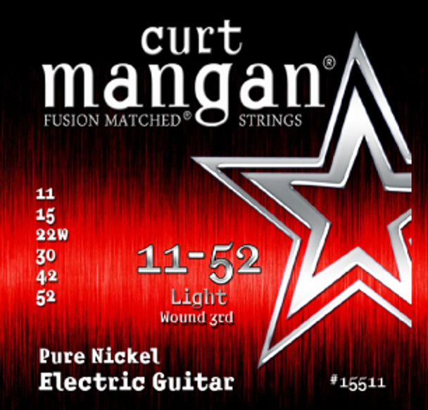 11-52 Light Pure Nickel Guitar String Set