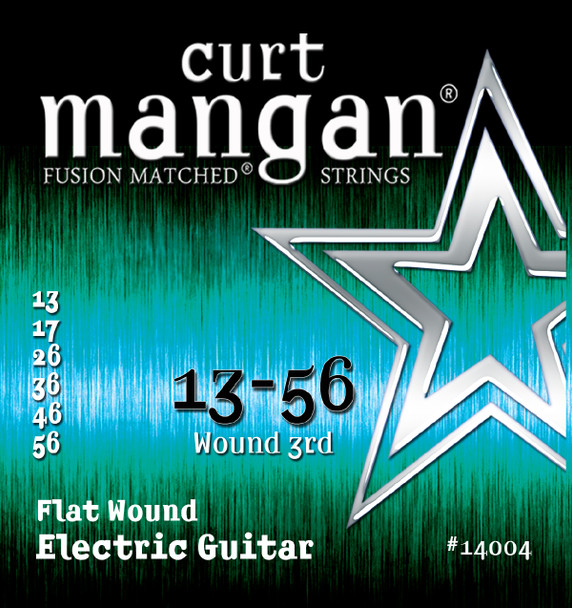 13-56 Stainless Flatwound Guitar Strings