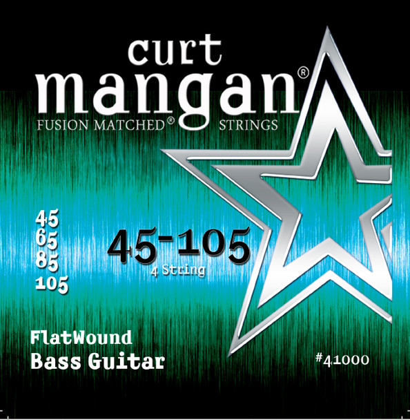45-105 Stainless FlatWound Bass Guitar String Set