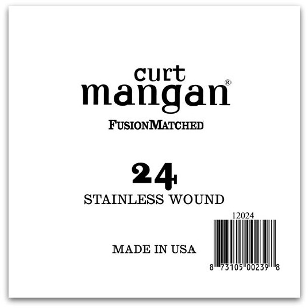 24 Stainless Wound Ball End Single String