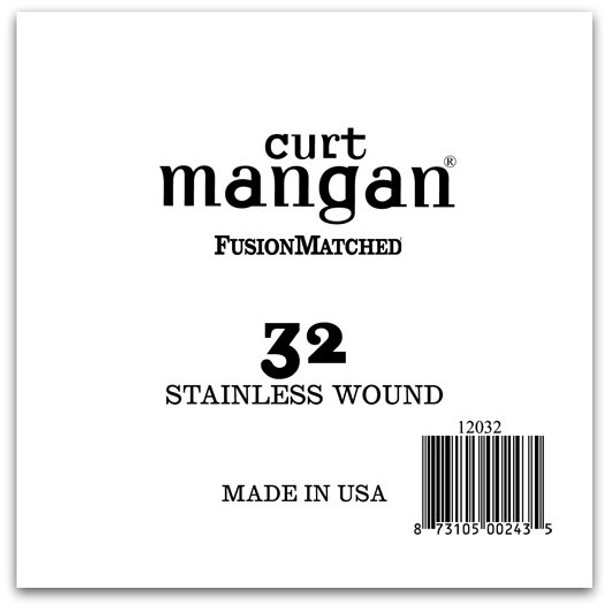 32 Stainless Wound Ball End Single String