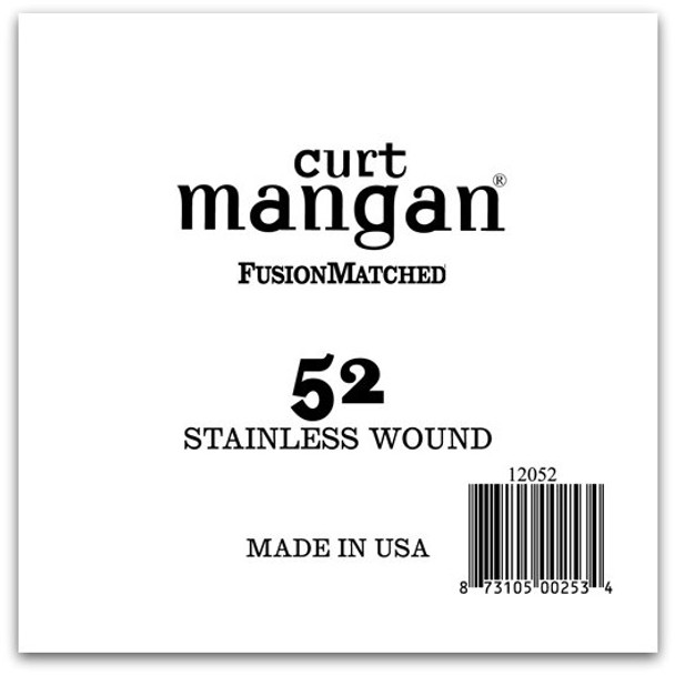 52 Stainless Wound Ball End Single String