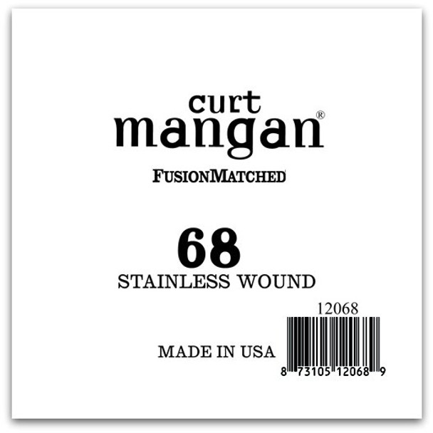 68 Stainless Wound Ball End Single String