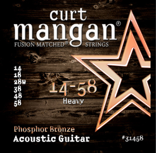 14-58 Heavy PhosPhor Bronze Acoustic Guitar String Set