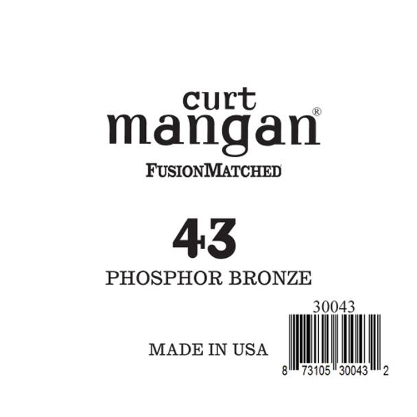 43 Phosphor Bronze Single String