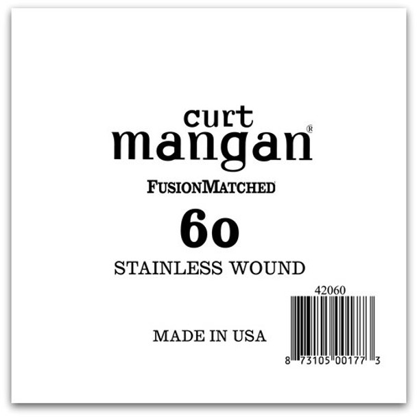60 Stainless Wound Bass Single String