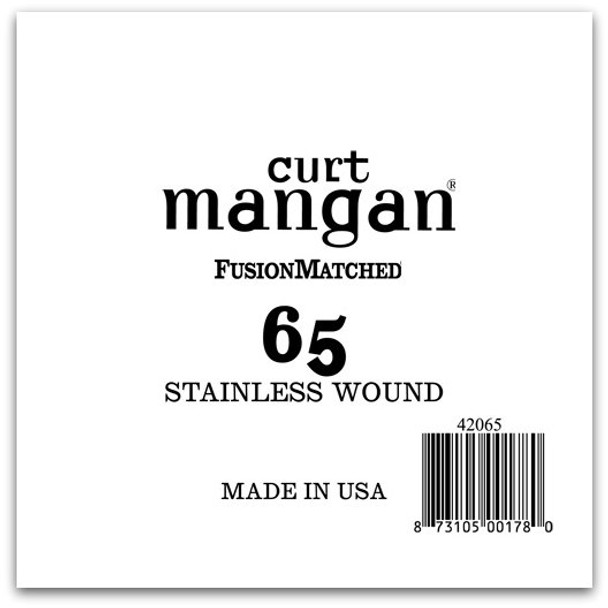 65 Stainless Wound Bass Single String