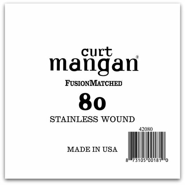 80 Stainless Wound Bass Single String