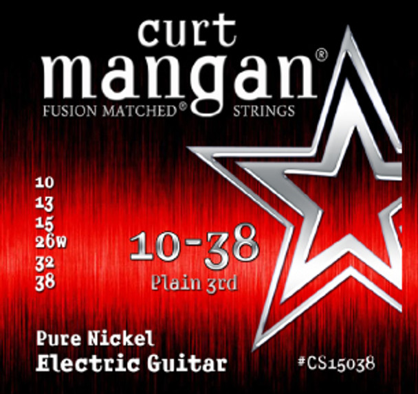 10-38 Pure Nickel Electric Guitar Strings