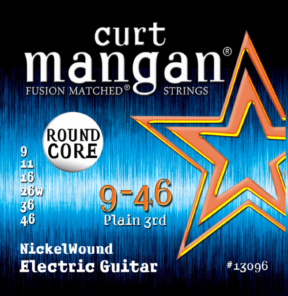 9-46 ROUND CORE Nickel Wound Guitar Strings