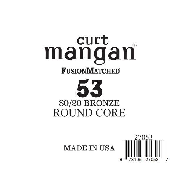 53 80/20 Bronze ROUND CORE Single String