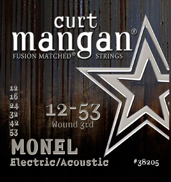 12-53 Monel Hex Core Traditional Light Guitar String SIX PACK