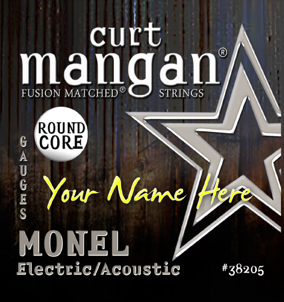 4 x Monel ROUND CORE Custom Gauged Acoustic/Electric Guitar Sets