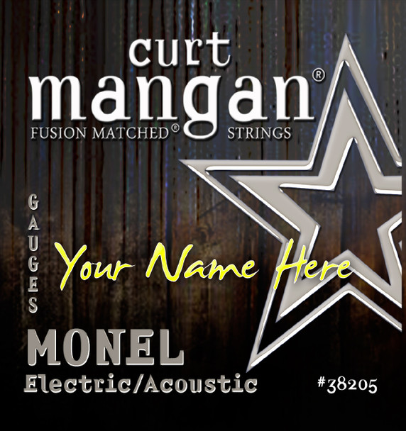 4 X MONEL HEX CORE Custom Gauged Electric/Acoustic Guitar String Sets