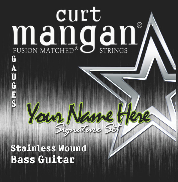 1 X Stainless Wound Custom Gauged BASS Sets for 4-string, 5-string, 6-string, 7-string and 8-string Bass Guitars
