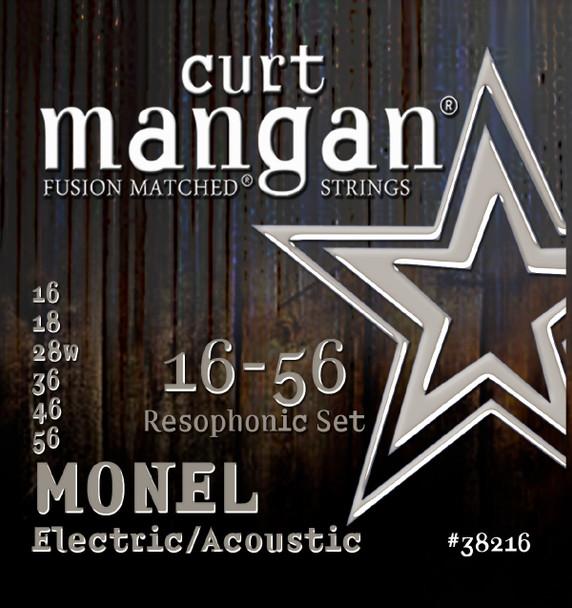 Monel Resophonic Hex Core 16-56 Guitar String Set