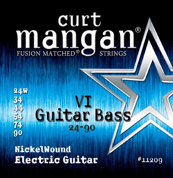 24-90 Guitar Bass VI Nickel Wound Set