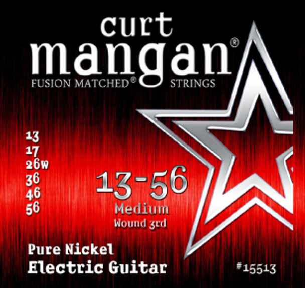 13-56 Medium Pure Nickel Guitar String Set