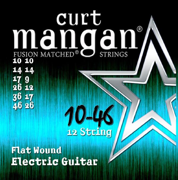 10-46 Flatwound 12 String Guitar Set