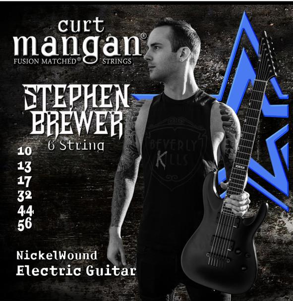 Stephen Brewer's Custom Signature 6 String 10-56 Nickel Wound Set