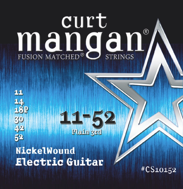 11-52 Plain 3rd Nickel Wound Electric Guitar String Set