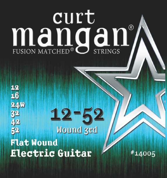12-52 Stainless Flatwound Guitar Strings