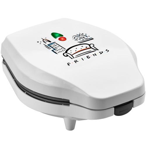 Friends Half Dozen Mini Donut Maker white with Friends graphic WBF-6 Select Brands